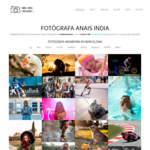 Website Fotógrafa Granollers