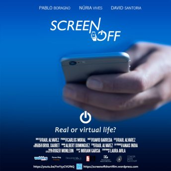 Cartel publicitario Screen Off