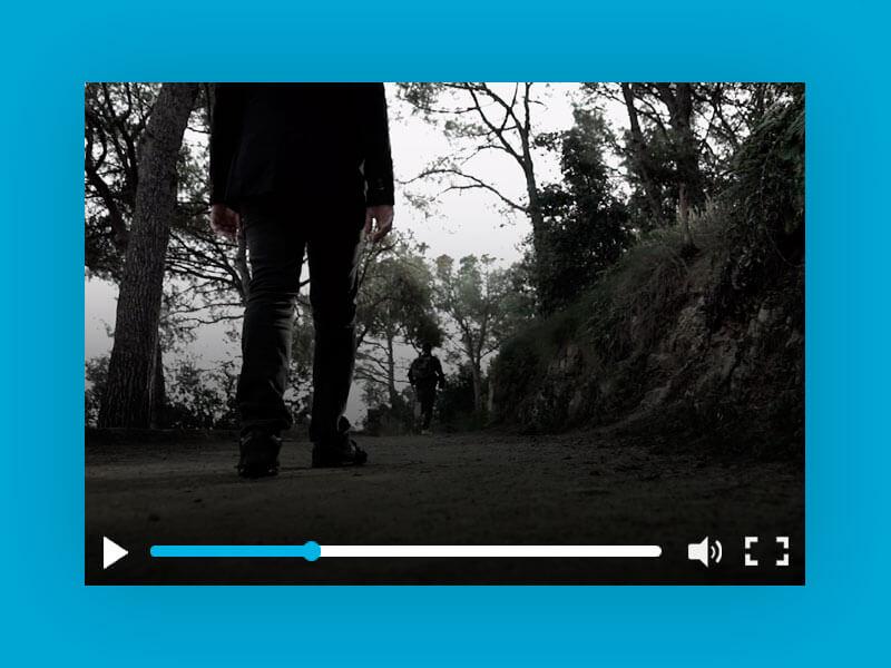 Vídeo persecución en el bosque