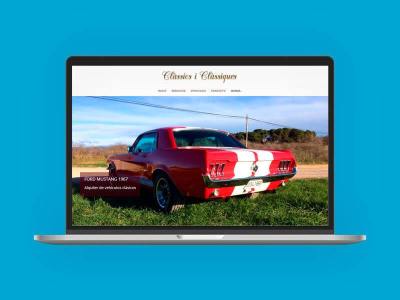 Diseño web vehículos clásicos