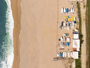 Drone fotografía playa