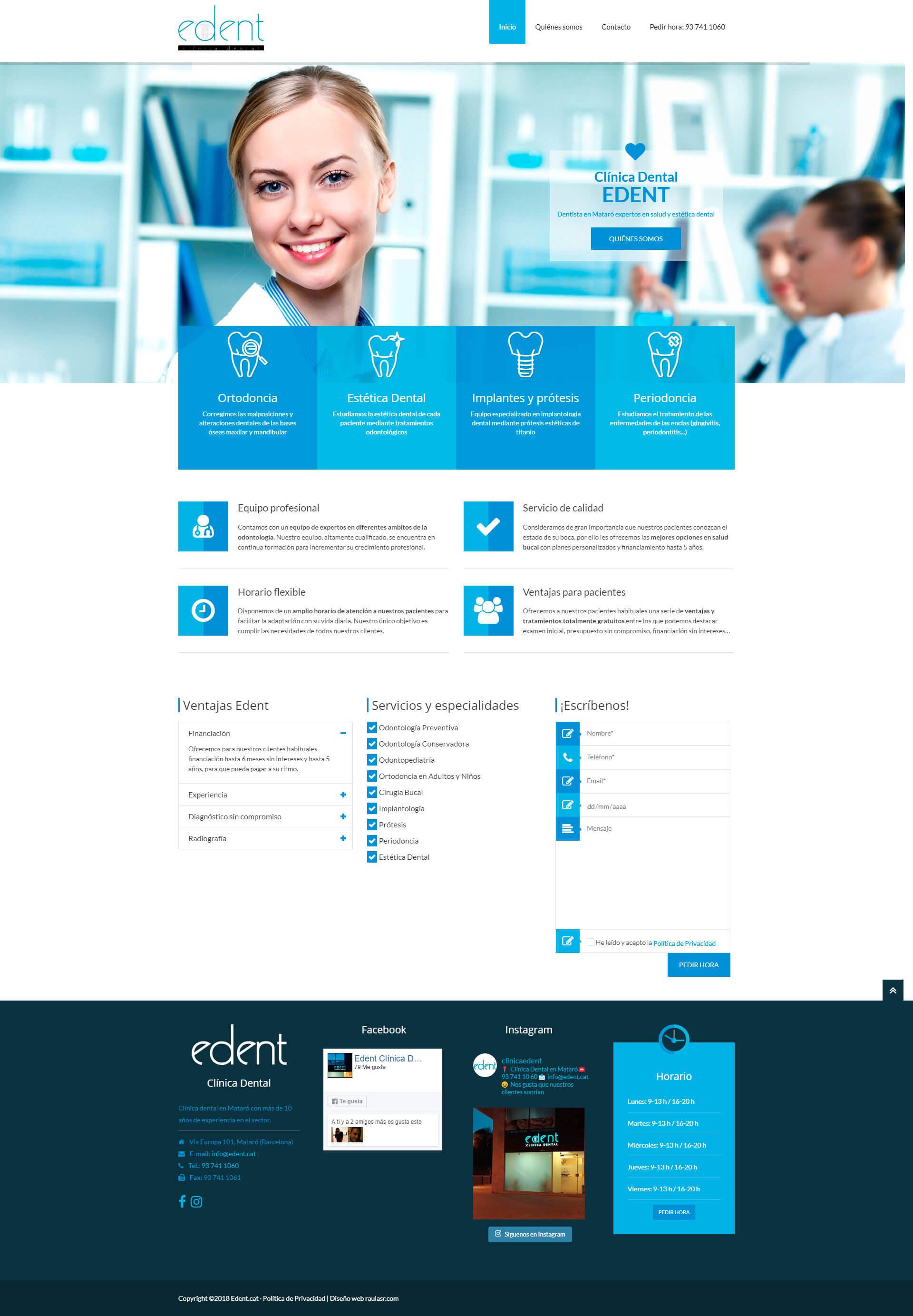 Diseño de páginas webs para dentistas