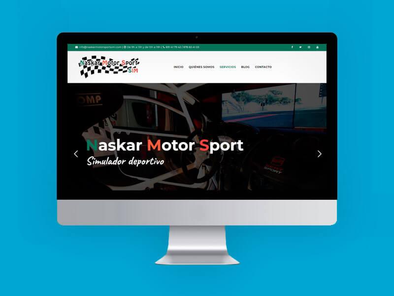 Diseño web simulador deportivo