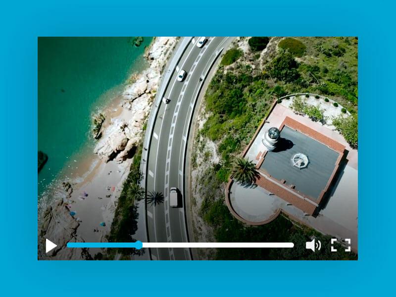 Grabación vídeo con drone