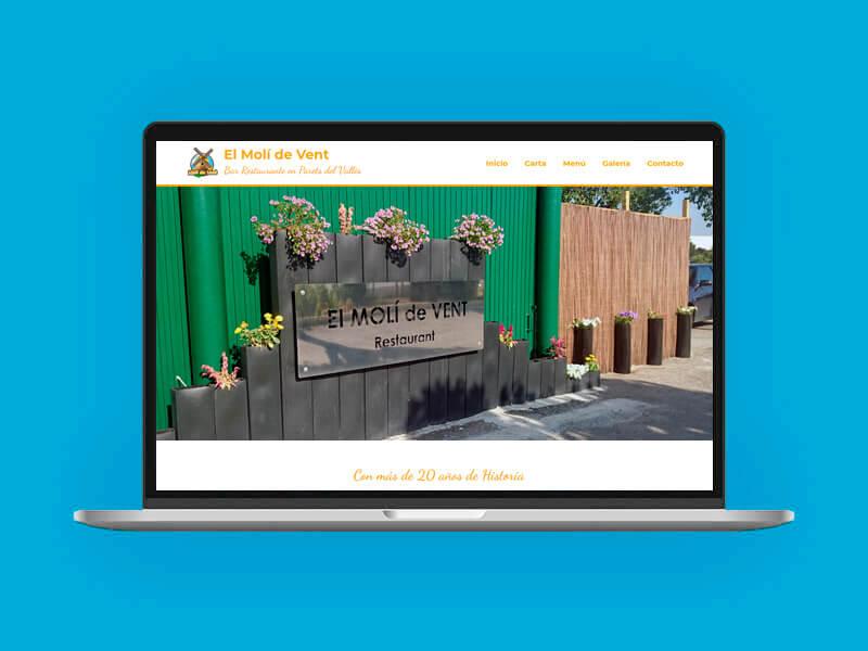 Diseño web Restaurante Molí de Vent